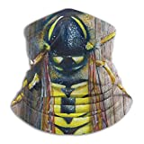 Lawenp Pintura acrílica, Wasp Nature Art Almohada de microfibra Calentador de cuello Deportes Protectores faciales A prueba de viento A prueba de polvo Boca Cara cuello Bufanda