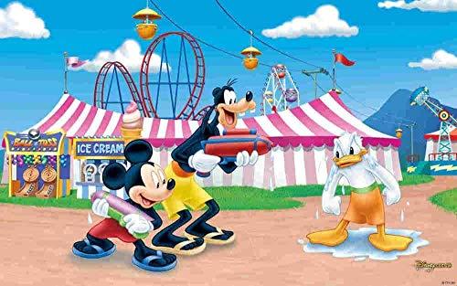 Abcoll Rompecabezas de Madera clásico, educación Familiar, Divertido Juego Educativo, póster de Mickey Minnie y Donald Duck, 1000 Piezas de Rompecabezas para Adultos y niños Challenge Impossible