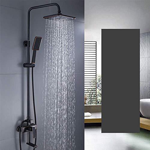 Coolshopy Termostático Ducha Conjunto de Conjunto for montaje en techo Ducha Sistema de lluvia mezclador, ducha de lluvia Sistema de cabeza, cromo pulido grifo de la ducha rociador de tres funciones d