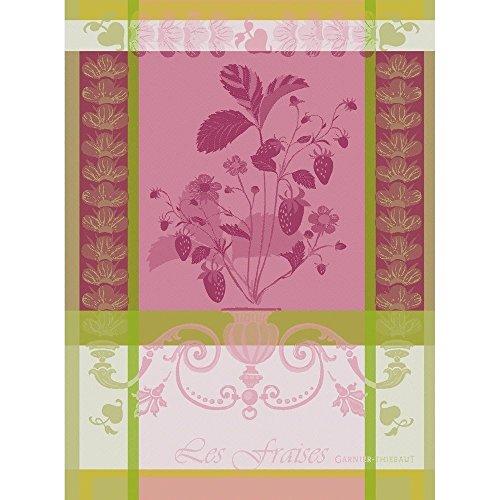 Garnier_Thiébaut - Torchon 20266 Fraisier Rose 56 x 77 cm cotton