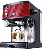 N\C Máquina de café Bean To Cup Barista Máquina de café Italiana semiautomática Molinillo Independiente de Acero Inoxidable Chen