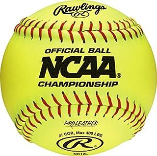 Rawlings 棒球球垒球 NC12L 12 英寸官方 NCAA Champio