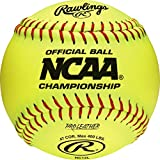 Rawlings Raised Seam Collegiate Softball Official NCAA League Championship Fastpitch Softballs, NC12L (Pack of 12)