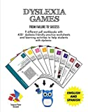 Dyslexia Games | 9 PDF Workbooks for Kids in a USB + Finger Spacers | Puzzles, Mazes, Tessellations, Calligrams, Tangrams, 2D-3D Alphabets and so on | Dyslexia Games for Kids