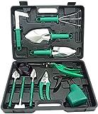 BNCHI Gardening Tools Set,12 Pieces Stainless Steel Garden Hand Tool, Gardening Gifts for Women,Men,Gardener (Silver)