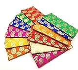 Shop Buzz Pack of 6 Premium Raw Silk Fabric Brocade Design Money Gift