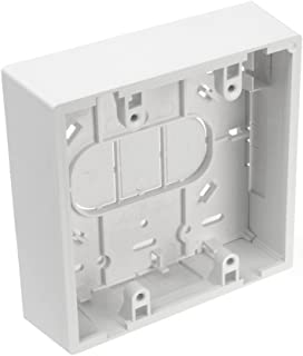 Leviton 42777-2WB Surface Mount Backbox, Dual Gang, White, 1.45 Inches
