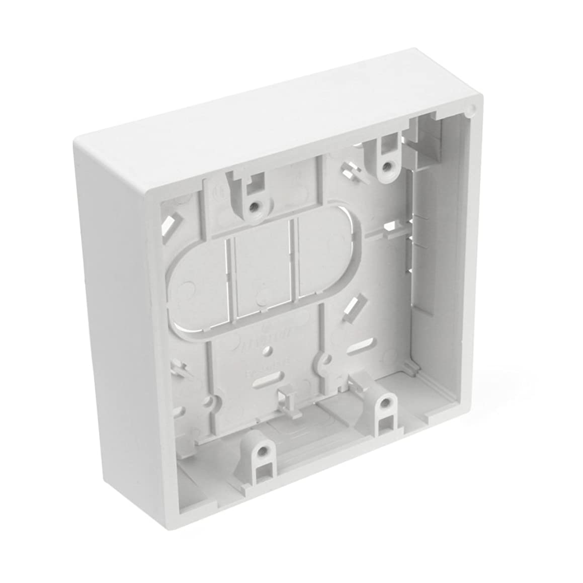 Leviton 42777-2WB Surface Mount Backbox, Dual Gang, White, 1.45