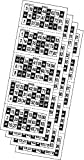 Desconocido 540 Cartones de Bingo troquelados para bingos benéficos
