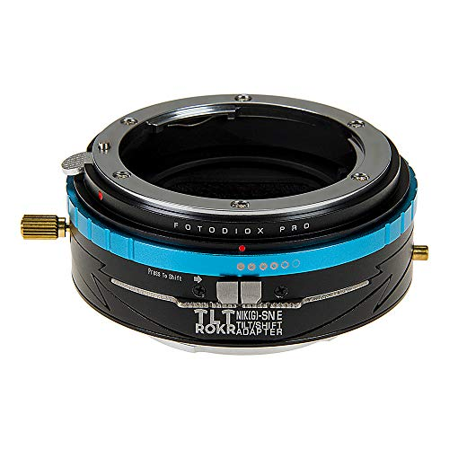 Fotodiox Pro TLT ROKR Tilt/Shift Lens Adapter Compatible with Nikon F-Mount G-Type Lenses on Sony E-Mount Cameras