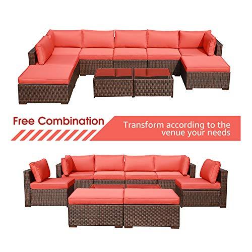 OC Orange 10 Piece Sectional Sofa Set