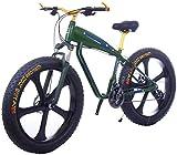 Bicicletas Eléctricas, Bicicletas 26 Pulgadas 21/24/27 Velocidad eléctrica de montaña con el 4.0' Fat Nieve Bicicletas de Doble Disco Frenos Frenos Beach Cruiser for Hombre Deportes E-Bikes,Bicicleta