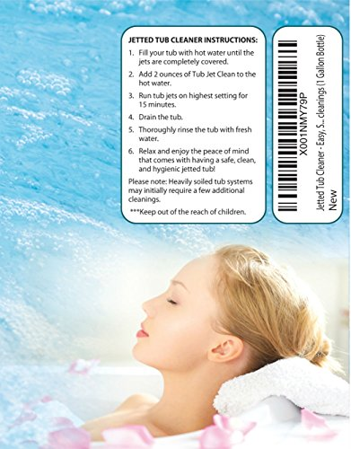 Jetted Tub Cleaner for Bathtub, Jacuzzi, Hot Tub, Spa, Whirlpool| Easy, Safe, Concentrated Self Cleaning Filter, Drain