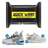 Ibesecc Toallitas de limpieza de zapatos desechables de cuero toallitas de limpieza portátiles para zapatos