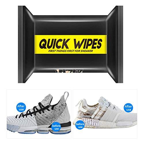 Eastleader Toallitas limpiadoras de Zapatos Toallitas limpiadoras de Cuero Desechables Toallitas limpiadoras portátiles para Zapatos