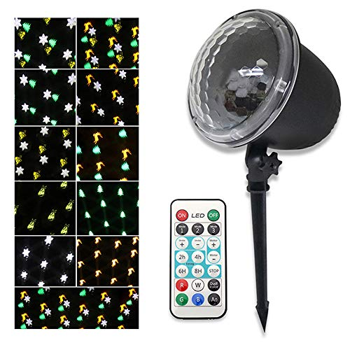 Hlidpu Luces de Navidad para Proyectores Patrones en Movimiento ...