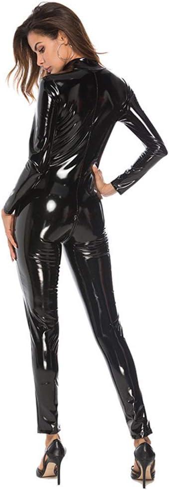JYCDD Frauen Reizvoller Overall Zipper Erwachsener Cosplay Abendkleid-Overall