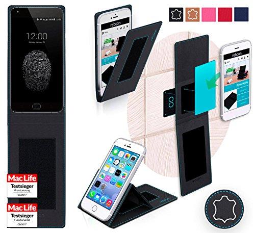 Hülle für UMi Touch X Tasche Cover Hülle Bumper   Schwarz Leder   Testsieger