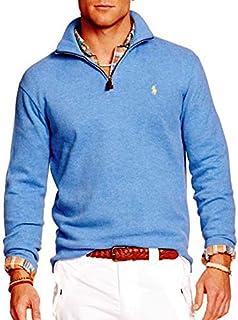 Polo Ralph Lauren Men's Half Zip French Rib Cotton...
