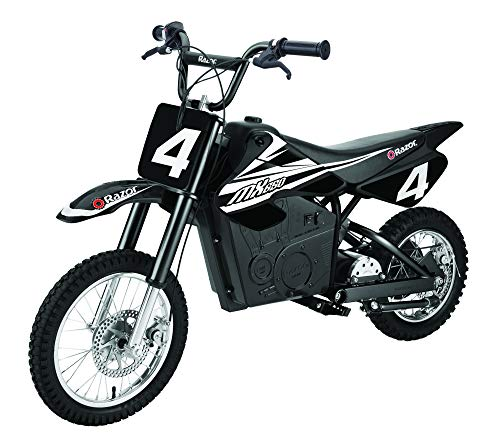Razor MX650 Dirt Rocket Adult & Teen Ride On High-Torque Electric Motocross Motorcycle Dirt Bike, Speeds up to 17 MPH, Black