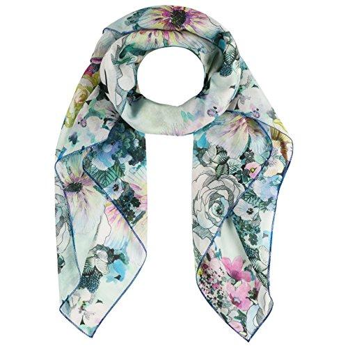 Codello Seiden-Schal mit Happy-Muster Grün