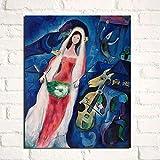 Marc Chagall Hochzeit Leinwand Bild Kunstdrucke Abstrakte