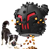 Dog Treat Toys Slow Feeder - Aggressive Dog Chew Toy Interactive Puzzle Toy, Durable Stimulating Food Dispenser Dog Teething Toy for Large Breed & Medium Dogs (Black)