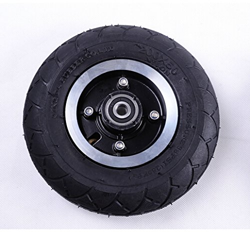 L-faster 200MM Electric Scooter Tyre With Wheel Hub 8' Scooter Tyre Inflation Electric Vehicle Aluminium Alloy Wheel Pneumatic Tire (wheel)