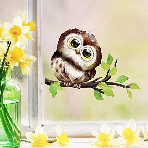 Wandtattoo Loft Fensterbild Frühling Ostern Fensteraufkleber Eule Vogel wiederverwenbarer Sticker