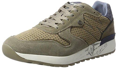 Wrangler Herren Sunny Punched Sneakers, Beige (Taupe), 45 EU