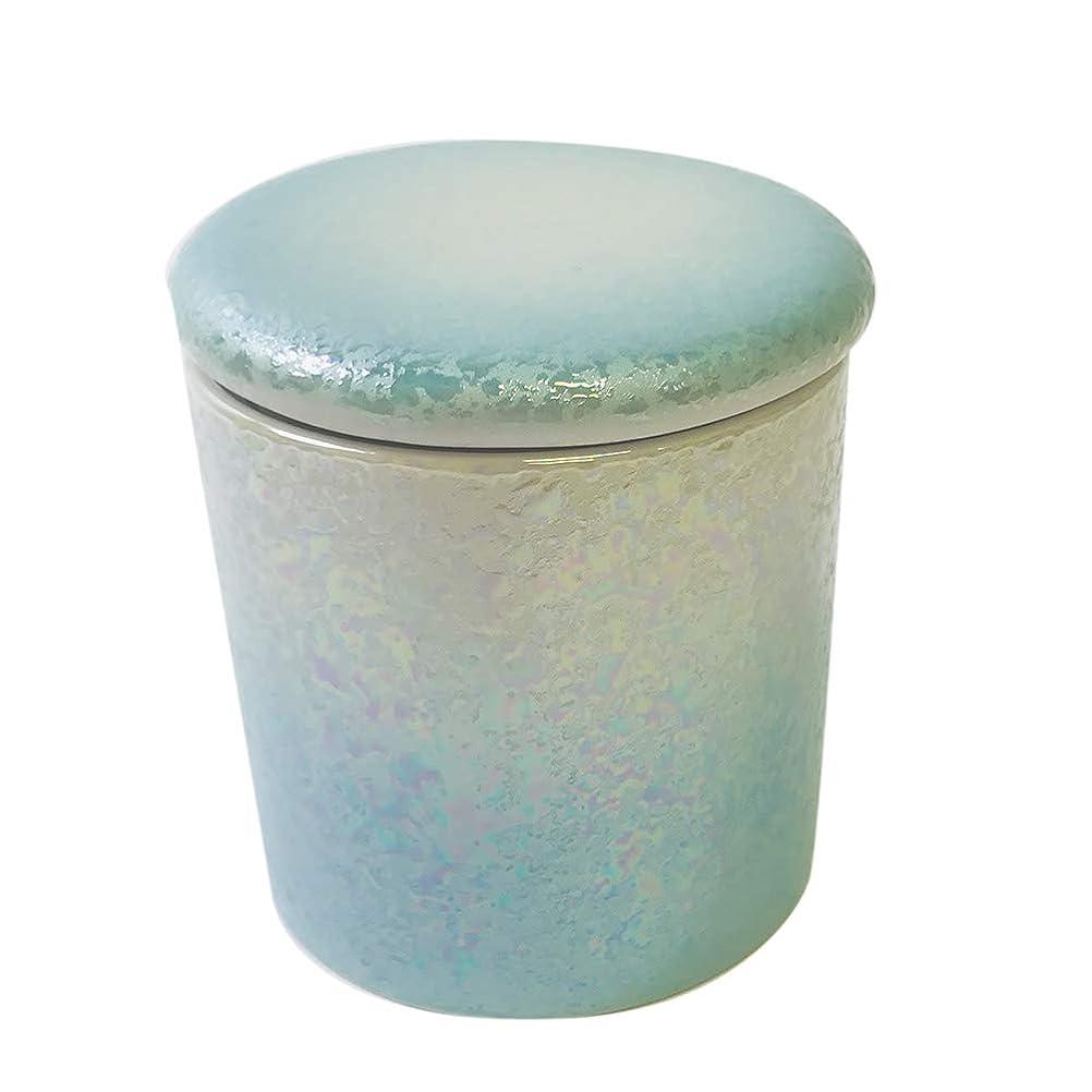 ヒロイック間違っているあまりにもミニ骨壷「やわらぎラスターブルー:2寸/蓋シリコン付き」〈直径 約6.3cm 高さ 約6.7cm〉