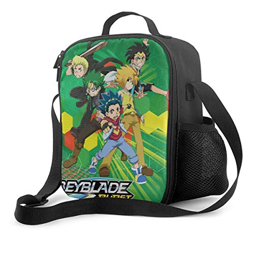 Portable Insulated Lunch Bag Bey-Blade Burst Evo-Lution Lunch Box Cooler Tote Bag Lunch Sack