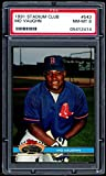 Mo Vaughn Rookie Card 1991 Stadium Club #543 PSA 8. rookie card picture