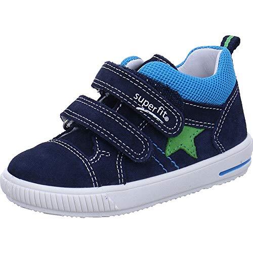 Superfit Baby Jungen Moppy Sneaker, Blau (Blau 80), 19 EU