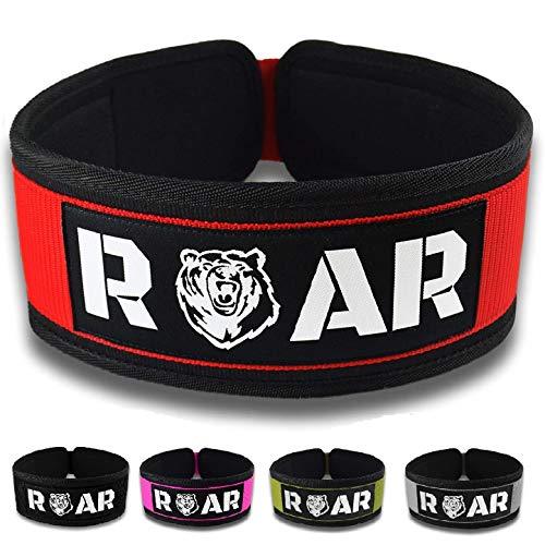 Roar® Cinturón Lumbar Gimnasio, Cinturon Gimnasio Hombre y Mujer, Cinturon Halterofilia, Powerlifting,...
