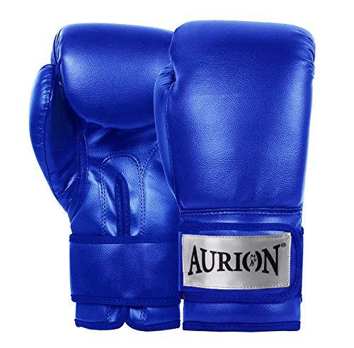 Aurion Pro Style Training Boxing Gloves (Blue, 12 Oz)