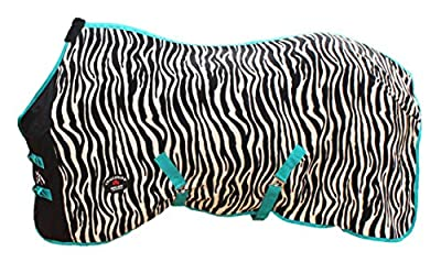 """Challenger Horsewear 72"""" Horse Sheet Polar Fleece Cooler Exercise Blanket Wick Zebra 4340"""