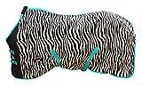 Challenger Horsewear 74' Horse Sheet Polar Fleece Cooler Exercise Blanket Wick Zebra 4340