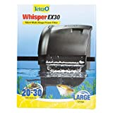 Tetra Whisper EX 30 Filter For 20 To 30 Gallon aquariums, Silent Multi-Stage Filtration (26311), Blacks & Grays