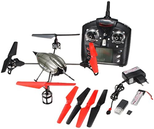 FamilyMall WL Jouets V959 2.4G 4-Axis 4 Canaux IR RC Hélioptère Quadcoptère Xcopter Gyro Caméra (Aucune Embalage d'origine )