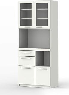 パモウナ 食器棚YC プレーンホワイト 幅75×高さ180×奥行40 日本製 YC-S750R [並行輸入品]