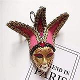 ZP-MIN Irn D - Imán para nevera, diseño de máscara de Venecia, diseño de payaso