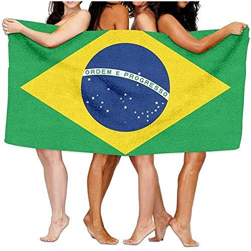 Moily Fayshow Toallas Bandera de Brasil Suave Ligero Absorbente Manta de baño Playa Toallas 80Cm X 130Cm