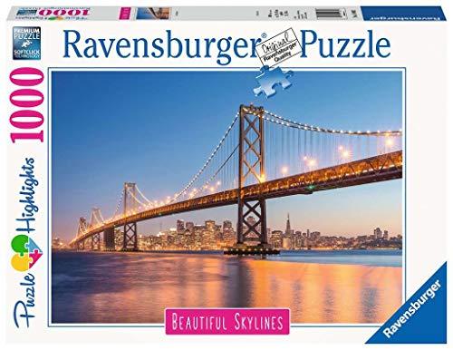 Ravensburger Puzzle 14083 - San Francisco - 1000 Teile Puzzle für Erwachsene und Kinder ab 14 Jahren, Puzzle mit Motiv der Golden Gate Bridge
