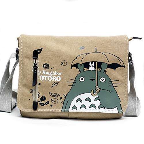 Joyralcos Japanese Anime Messenger Bag Crossbody Canvas Cosplay Shoulder Bag for Boys Girls (Totoro 1)