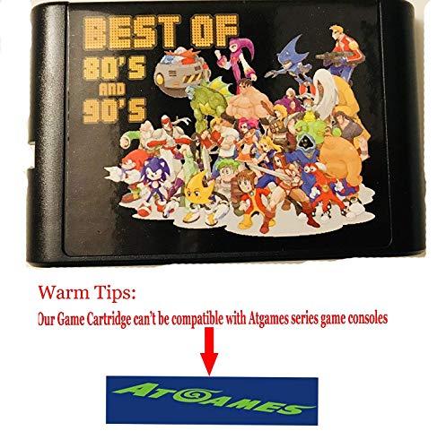 Entrega gratis Tarjeta de juego 196 en 1 cartucho de juego de 16 bits para Sega Mega Drive Genesis