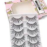 False Eyelashes Glamour Fake Lashes Reusable 100% Handmade (5 Pairs)