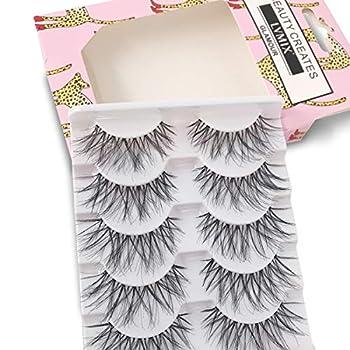 False Eyelashes Glamour Fake Lashes Reusable 100% Handmade  5 Pairs