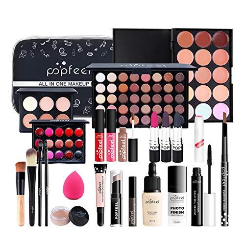 CHSEEA Schmink Geschenkset Make-Up Set Kosmetik Makeup Paletten Schminkkoffer Schminke für Gesicht, Augen und Lippen, Elegante Geburtstagsgeschenk und Weihnachtsgeschenk #8