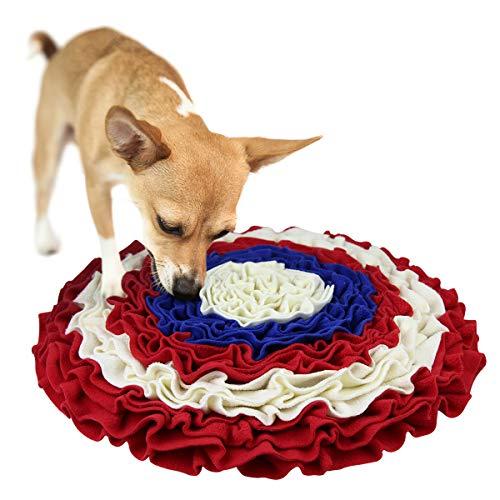 AK KYC Snuffle Matte für Hunde, Nasenarbeit langsames Füttern Training Welpen Katze Interaktives Puzzle-Spielzeug Lustige Faltbare Decke